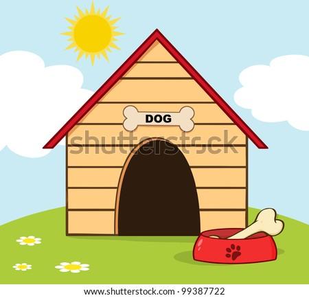 Dog house clipart
