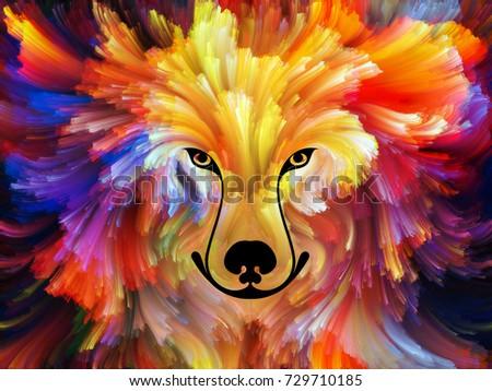dog paint series background design colorful stock illustration