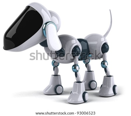 Dog robot - stock photo