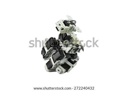 Dog robot white background - stock photo