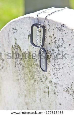 Dog Tags - stock photo