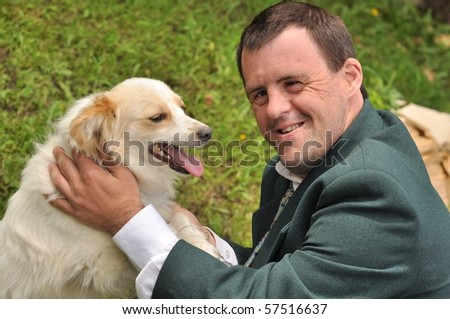 dog therapy - stock photo