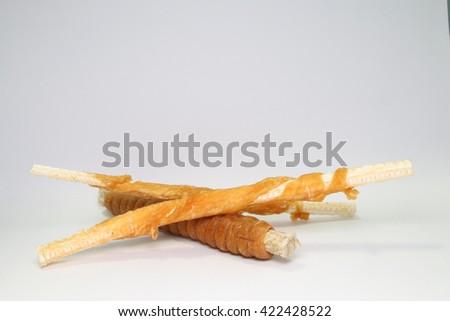 Dog Treats Chews, Snack /copy space - stock photo