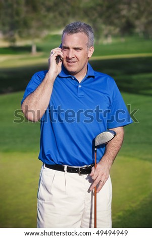 Doing Business on the Golf Course - stock photo