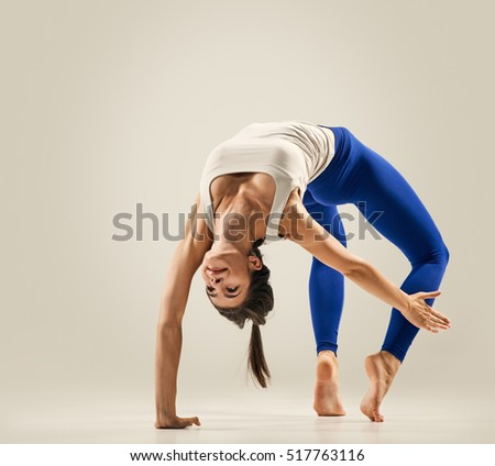 Doing yoga woman