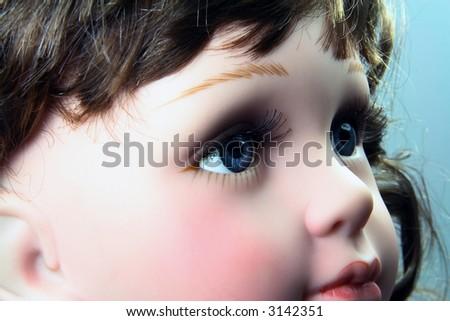 doll eye - stock photo