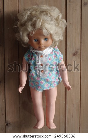 doll old toy wooden backgrounds 3 - stock photo
