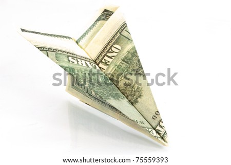 dollar aircraft against a white background - stock photo