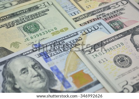 Dollar bank note money for background