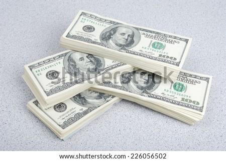 dollar banks note money background - stock photo