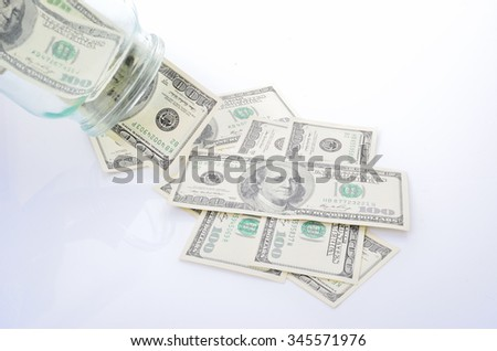 dollar bills fall out of banks