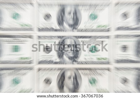 Dollar cash business printing money Zoom burst - stock photo