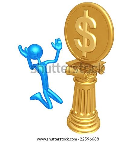 Dollar Coin Idol - stock photo