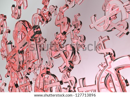 Dollar Currency background - stock photo