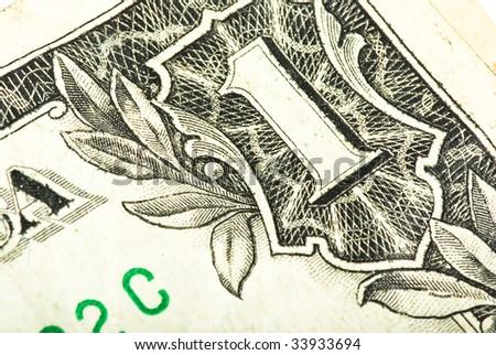 dollar detail closeup - stock photo
