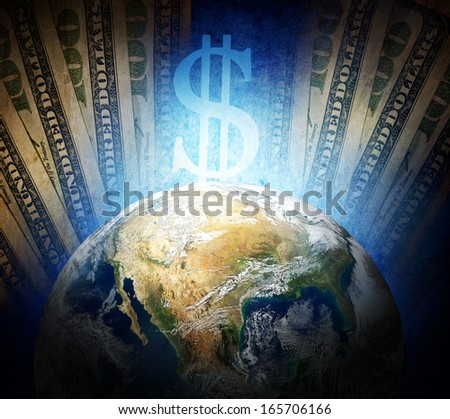 dollar empire, Elements of this image furnished by NASA - stock photo
