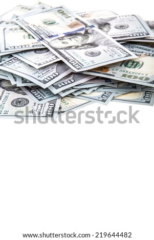 dollar frame - stock photo