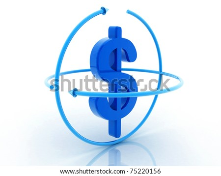 Dollar in white background - stock photo