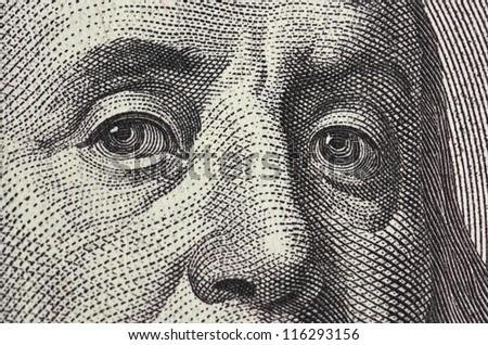 dollar macro - stock photo
