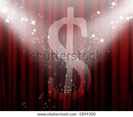 Dollar on the front stage - stock photo