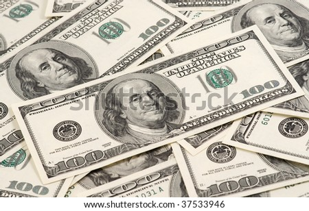 Dollar's background. One hundred dollar's banknotes