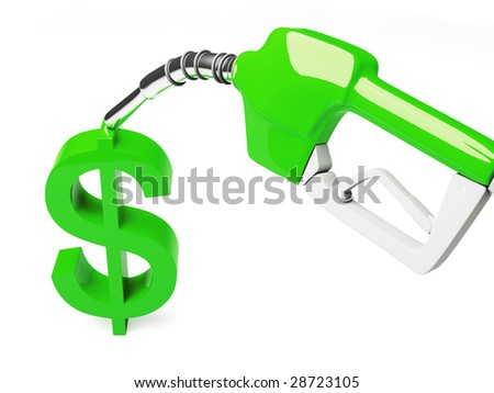 Dollar Sign at The Gas Pump