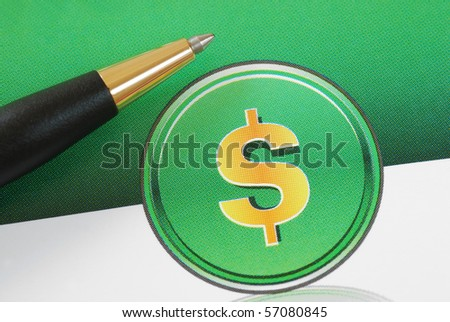 Dollar sign concepts of investing, profits, and wealth
