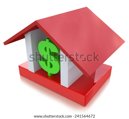 dollar sign in the house  - stock photo