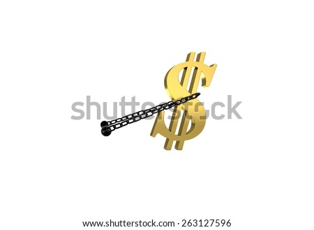 dollar symbol drags.  perfect for advertising models. save in days of sales - stock photo