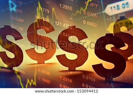 Dollar symbol made form paper. Money concept. - stock photo