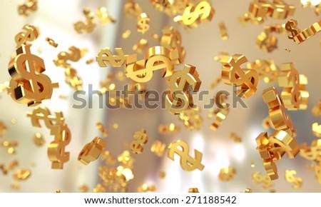 Dollar symbols background. - stock photo