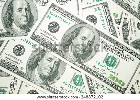 dollar - the greenback against a white background - stock photo