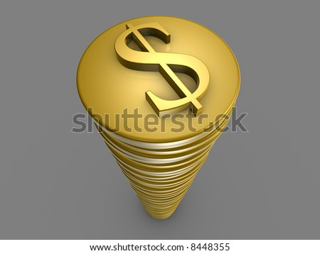 Dollar Tower - stock photo