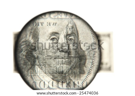 Dollars against white background - stock photo