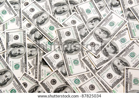 dollars background - stock photo