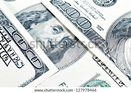 Dollars closeup.Highly detailed picture of American money