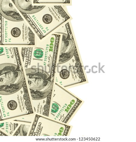 dollars currency isolated - stock photo
