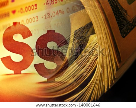 Dollars. Finance concept. - stock photo