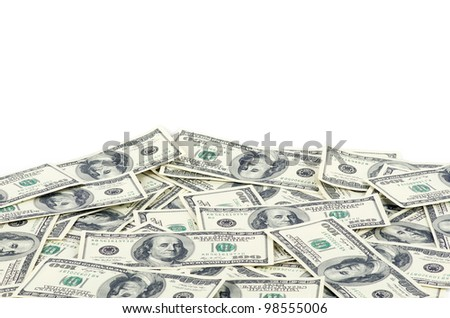 Dollars isolated on a white - stock photo