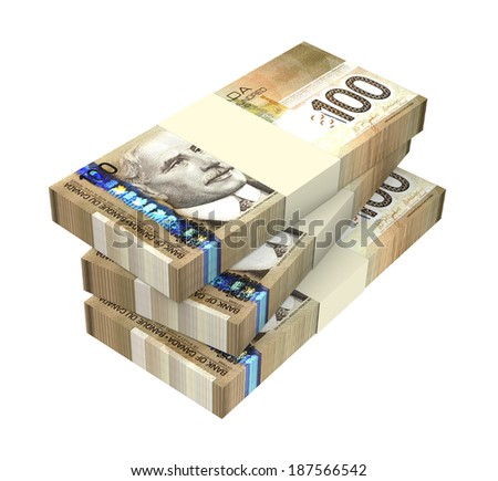 Dollars money isolated on white background. Computer generated 3D photo rendering.  - stock photo