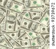 Dollars money seamless tileable background texture - stock photo