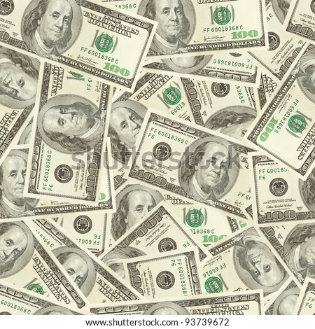 Dollars money seamless tileable background texture - stock photo