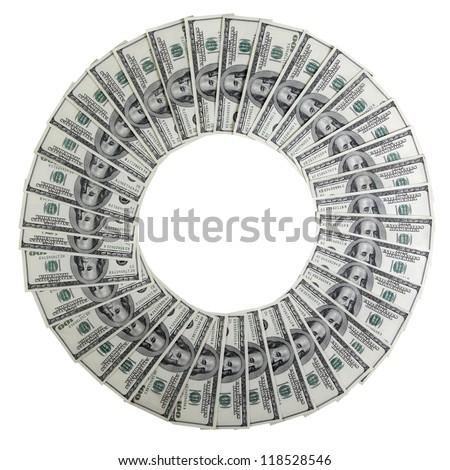 dollars ring - stock photo