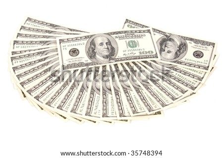 Dollars Visit my dollar collection please - stock photo