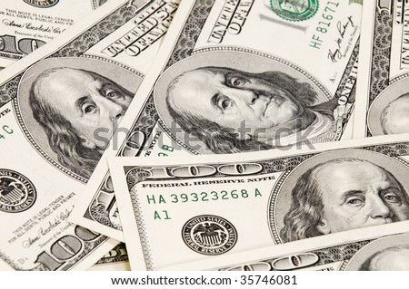 Dollars Visit my dollars collection please - stock photo