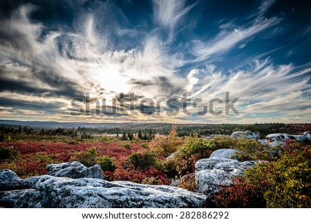 Dolly Sods Wilderness Area scenic sunset