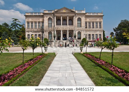 Dolmabahce Palace in Istanbul, Turkey