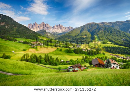Dolomites alps, Mountain - Val di Funes - stock photo