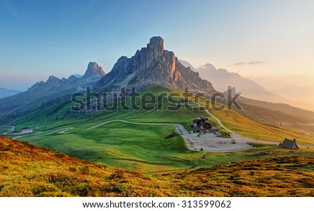 Dolomites landscape - stock photo