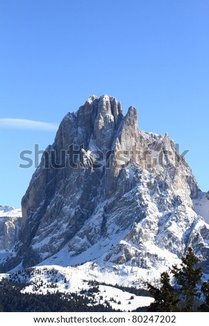 Dolomites mountain or the Italian Alps, unesco natural world heritage in Italy - stock photo